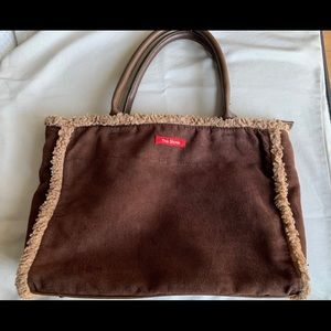 THE STONE Brown Suede Satchel bag